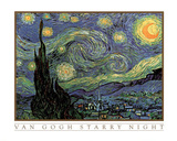 Vincent Van Gogh Starry Night Art Print Poster Posters