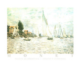 Claude Monet Regatta at Argenteuil Art Print Poster Poster