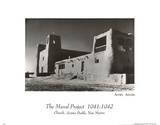 Church, Acoma Pueblo, New Mexico Ansel Adams ART PRINT Poster Posters