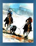 Dan McManis (Team Roping) Art Print Poster Posters