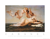 Alexandre Cabanel The Birth of Venus Art Print Poster Posters
