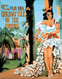 Cuba Holiday Isle of the Tropics Vintage Ad Art Print Poster Poster