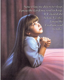 Girl Praying (Now I Lay Me Down To Sleep) Art Poster Print Print
