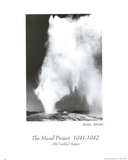 Old Faithful Geyser Ansel Adams Art Print Poster Fotografia