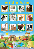 Laminated On The Farm Educational Chart Poster Print Posters