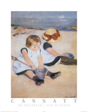Mary Cassatt On the Beach Art Print Poster Posters
