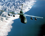 C-5 Cargo Plane (In Air) Art Poster Print Photo