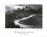 Snake River Grand Tetons Ansel Adams ART PRINT POSTER Prints