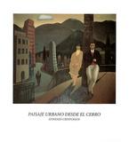 Gonzalo Cienfuegos (Paisaje Urbano Desde el Cerro) Art Poster Print Posters