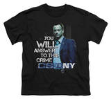 Youth: CSI New York - You Will Answer T-shirts
