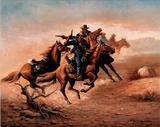 Cowboys (Shoot Out) Art Poster Print Prints
