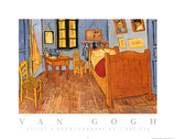 Vincent Van Gogh Artist's Room Art Print Poster Posters