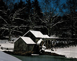 Mabry Mill in Winter (Photograph) Art Print Poster Poster