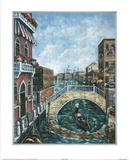Jose Venice Canal  1 Art Print POSTER Italy gondola Photographie
