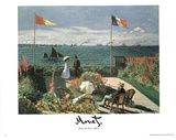 Claude Monet (Garden at St. Adresse) Art Print Poster Photo