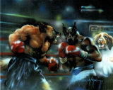 Dogs Boxing (Sports) Art Print Poster Print