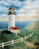 Lighthouse (On Shore) Art Print Poster Posters