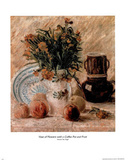 Vincent Van Gogh Vase Of Flowers Coffee Pot Art Print Poster Print
