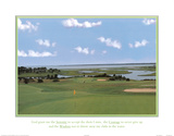 Golf Course Serenity, Courage, and Wisdom Art Print Poster Billeder