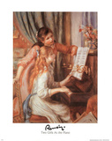 Pierre-Auguste Renoir Two Girl at the Piano Art Print Poster Prints