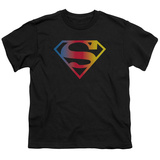 Youth: Superman - Gradient Superman Logo Shirt