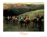 Racehorses-Chevaux Course Edgar Degas ART PRINT POSTER Prints