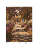 Claude Monet Le Jardin A Giverny Art Print Poster Posters