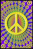 Peace Signs Blacklight Art Poster Print - Reprodüksiyon