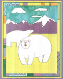 Polar Bears Childrens Art Print POSTER COLORFUL CUTE Posters
