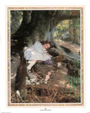 Girl Lost In Woods Art Print Poster Posters