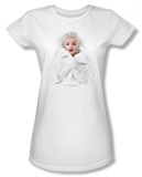 Juniors: Marilyn Monroe - Marilyn in White T-Shirt