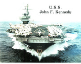 USS Kennedy Military Aircraft Carrier Art Print POSTER Posters
