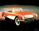 1956 Chevrolet Corvette (Car) Photo Print Poster Poster