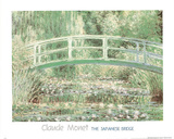 Claude Monet (Japanese Bridge at Giverny) Art Print Poster Posters