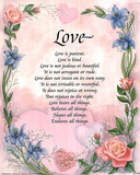 Love is Patient (Poem) Art Print Poster Posters