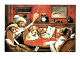 Dogs DRINKING smoking silly Art Print POSTER Sick FUNNY Poster