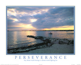 Perseverance motivational Dream Sunset Art Print Poster Posters