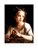William-Adolphe Bouguereau La Petite Ophelie Art Print Poster Print
