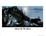 Ahead Of The Game (Wolf Pack) Art Print Poster Obrazy
