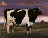 DeFrancesco Moon Over Holstein Cow Art Print POSTER Posters