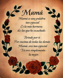Mama (Spanish Poem) Holiday Poster Prints