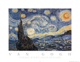 Vincent van Gogh The Starry Night Art Print Poster Psteres