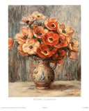 Renoir (Les Anemones) Art Print Poster Posters
