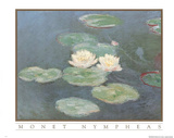 Claude Monet Nympheas Art Print POSTER Water Lilypads Prints