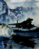 F-15 (Over Water) Art Poster Print Prints