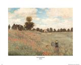 Claude Monet (Les Coquelicots) Art Print Poster Prints