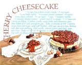Cherry Cheesecake (Recipe) Art Print Poster Posters