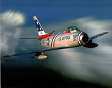 USAF F-86 Sabre Jet Flying Art Print POSTER lithograph Prints