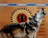 Wolf Spirit Art Print POSTER Native American Indian Posters