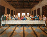 Leonardo Da Vinci The Last Supper Art Print Poster Posters